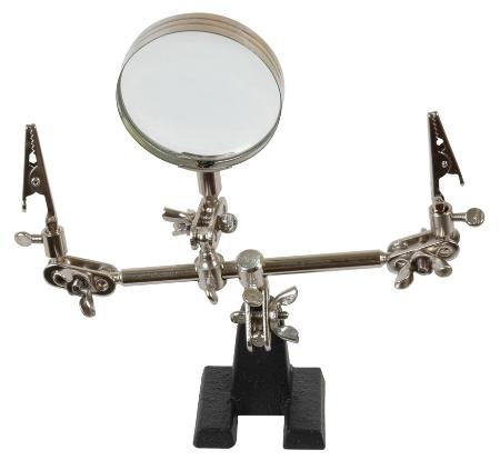 Duratool FZ1062 Helping Hands Tool with 4X Magnifier - 1