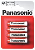 Panasonic AAA Zinc Chloride Batteries - Panasonic special R03R/MN2400/HP16/AAA size battery (PACK4) Zinc carbon-mercury/cadmium free