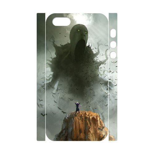 3D Case for IPhone 5,5S, Sleeping Giants, the Dark Slumber ,Morpheus Commission,cthulhu Case for IPhone 5,5S, Jumphigh White
