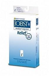Jobst Relief Knee High 15-20mmHg Open Toe, M, Beige
