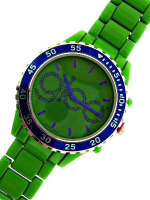 Glee Watch Green Band Purple Color Face