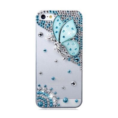Crystal iPhone 6 Case(Blue butterfly)