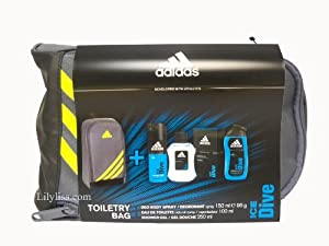 Adidas Ice Dive Gift Set with Edt 100 ml, Deo Spray, Shower Gel & Bag