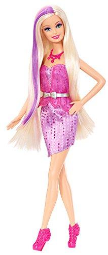 Mattel Barbie BDB26 - Glam Beautyspaß , Puppe mit Farbwechsel