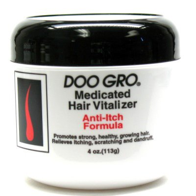 DOO GRO Medicated Hair Vitalizer Anti Itch Formula Promotes Strong, Healthy, Growing Hair Relieves Itching, Scratching & Dandruff 4oz/113g