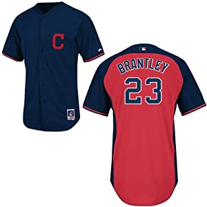 Michael Brantley Cleveland Indians Navy Batting Practice Jersey by Majestic by Majestic