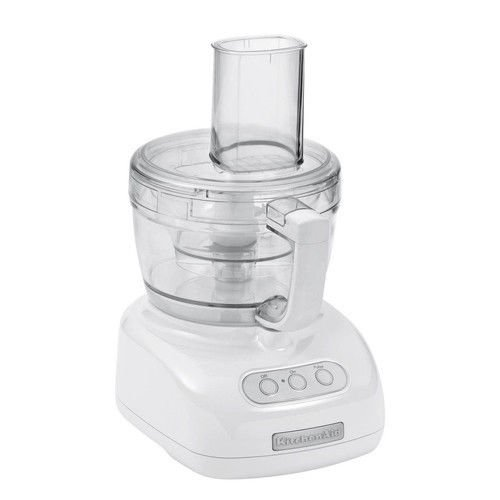 Brand New Kitchenaid 1/2-Horsepower Large Feed Tube Kfp740Wh 9-Cup Food Processor, White