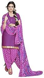maroon Color Crepe Patiala Salwar Suit Unstitched Dress Materials