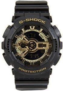 Men's Black G-Shock Digital Anti-Magnetic Gold Tone Analog [Watch] Casio