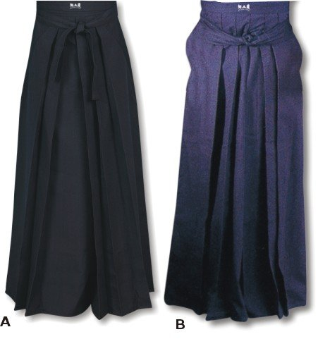 MAR Hakama (P/C) A: Black B: Navy Blue Medium-25A: Black