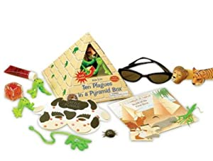 Pyramid Boxed Passover 10 Plagues Toy Set