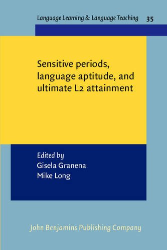 Sensitive periods language aptitude and ultimate L2 attainment Language Learning and Language Teaching