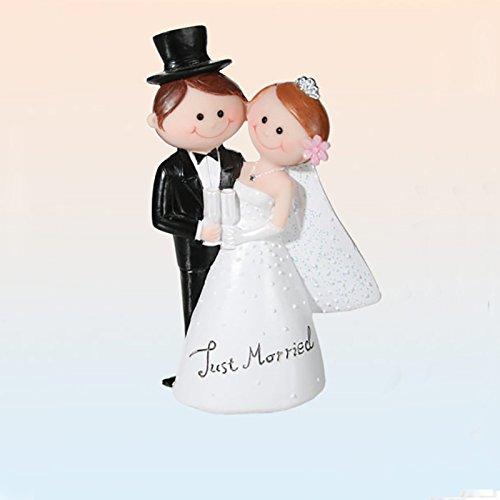 Figurine mariage, figurine pièce montée, décoration mariage, couple de mariés, en polyrésine, 6 x 10,5 x 3 cm