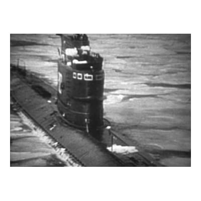 Soviet Submarine Breaking the Ice in the Kara Sea