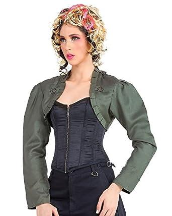 Steampunk Victorian Gothic Womens Costume Military Bolero Jacket  AT vintagedancer.com