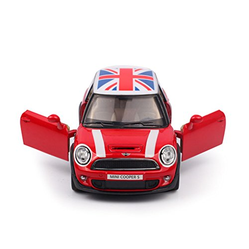 BXT-HOT-Newest-Mini-Cooper-Union-Jack-Vehicle-Playset-130-Scale-Construction-Model-Car-Toy-Alloy-Diecast-Sports-Racing-Vivid-Toy-for-Baby-Toddler-Kids-Children-Boys-Girls-up-3-Years-Old-Red