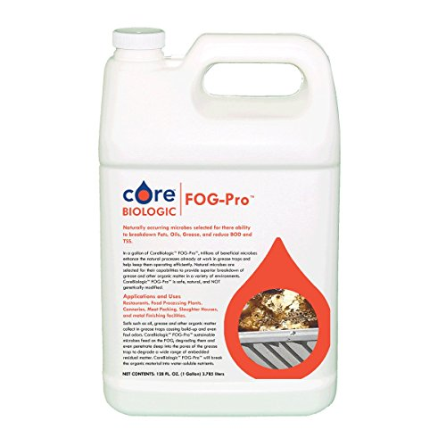 CoreBiologic FOG-Pro Microbes for Degrading Grease in Grease Traps, 1-Gallon (1000 Gal Water Tank compare prices)
