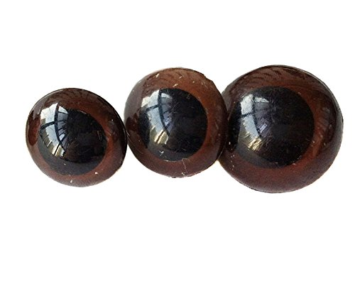 TOPWEL 100PCS Brown Plastic Safety Eyes for Sewing Crafting Buttons for Bear Doll of DIY (16MM) (Buttons For Sewing And Crafting compare prices)