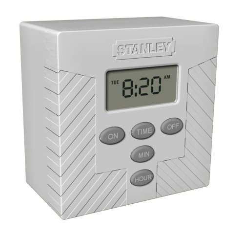 Stanley 31206 TimerMax Indoor Digital Lamp Timer, White