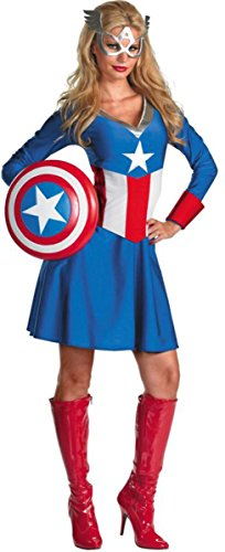 Costumes For All Occasions DG50253E Captain America Female Classic Large