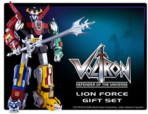 Voltron Defender of the Universe Lion Force Gift Set Plastic Version