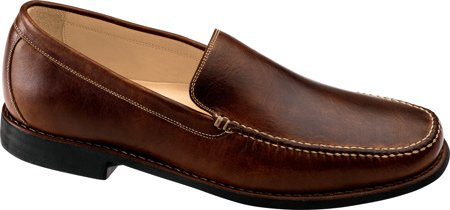 Johnston & Murphy Men's Ainsworth Venetian Professional Shoes,Mahogany Tumbled Wax Veal,10.5 M US