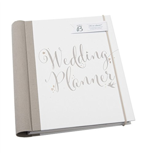 Busy B Bride to B Script Wedding Planner - perfect engagement gift with checklists, pockets and an undated planning calendar