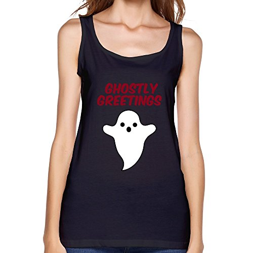 DASYwomensHalloween Ghostly Greetings Tank TopXX-Large Black (Womens Ghostly Wig)