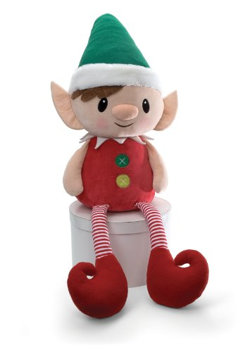 Gund Plush 45'' Holiday PEPPERMINT ELVES JUMBO