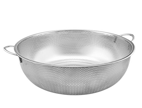 High Quality Stainless Steel Colander, Food Strainer for Pasta, Noodles, Vegetables & Fruits, Dish Washer Safe (Stainless Steel Noodle Strainer compare prices)