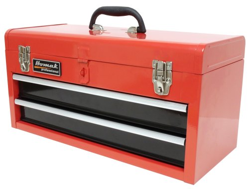 HOMAK RD01022001 2-Drawer Tool Box/Chest Red