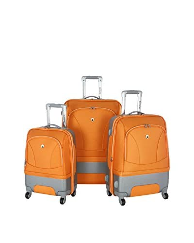 Olympia Majestic 3-Piece Expandable Set, Orange