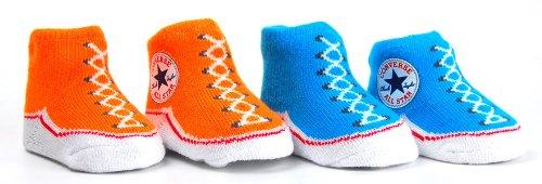 Converse Infant Booties - Bright Cirtus / Fluro Blue