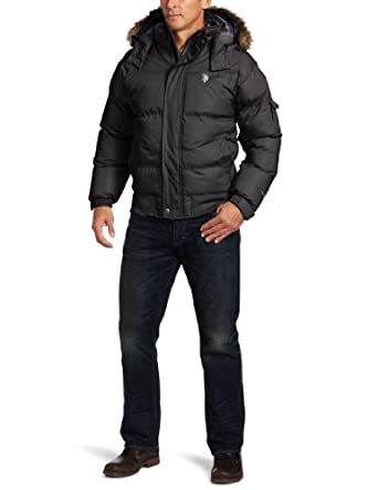 U.S. Polo Assn. Men's Short Snorkel Jacket, Black, Small