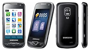Samsung GT-B7722 Dual SIM Unlocked GSM Phone with 5 MP Camera, Touch Screen, Wi-Fi, MP3 and Micro SD Memory Extension