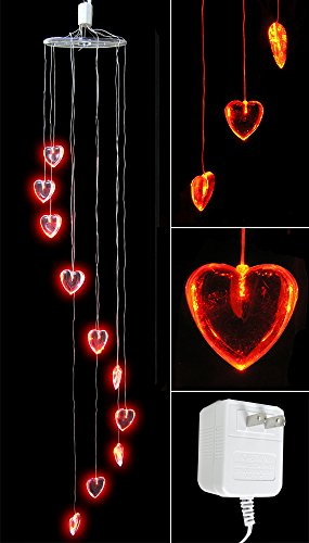 Heart Decorations - Red Heart Shaped Lights LED - Valentine's Day Decorations - Mobile - Valentine's Day - Decor