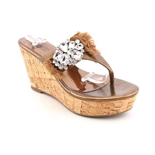 Bronze Wedge Sandals front-1021772