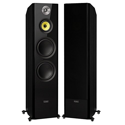 "Fluance Signature Series Hi-Fi Three-way Floorstanding Tower Speakers with Dual 8"" Woofers (HFF)"