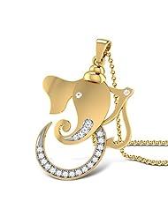 CaratLane 18K Yellow Gold Diamond Pendant - B00NM9YRFU