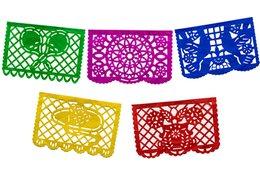Mini Papel Picado Banner - Multicolor from Amols Specialty Inc.