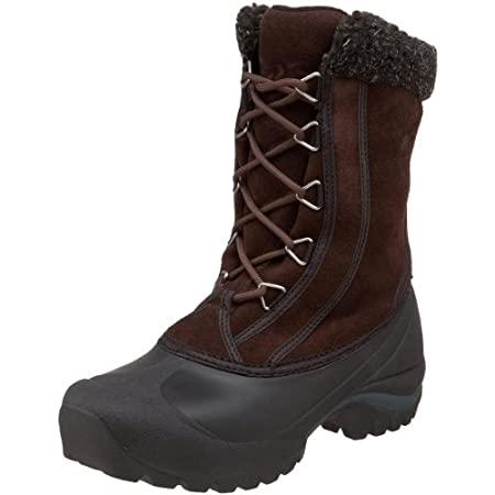 DECENT FEATURES of the Sorel Women's Cumberland LEA Boot Durable water and wind resistant PU coated leather upper Gusseted tongue keeps out slush and snow Sherpa Pile snow cuff 200g Thinsulate Insulation Removable EVA comfort foot bed Injection molde...