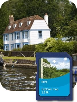 Satmap MapCard: Kent OS 1:10k  &  1:25k
