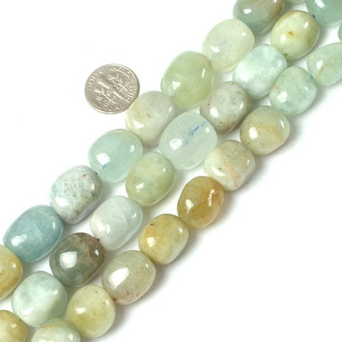 12x16mm Freeform Gemstone Mixed Aquamarine Beads