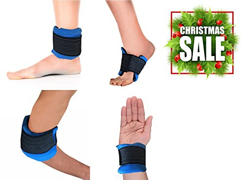 Hot / Cold Therapy #1 MULTI-USE Wrap For All Body Parts Including Ankle, Wrist, Foot, Elbow, Neck, Head, Knee, and More! CE CERTIFIED & FDA APPROVED. Relieve Soreness + Decrease Swelling. (Cold Compress For Feet compare prices)