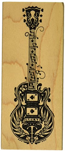 "Inkadinkado Mindscape Guitar Mounted Rubber Stamp, 4.75"" by 2"" - 1"