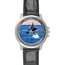buy New Year/Christmas Gifts Awesome Killer Whale Unisex Leather Strap Watch
