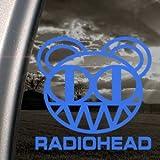 RADIOHEAD Blue Decal SCARY BEAR KID A ALBUM Car Blue Sticker