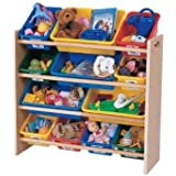 2 X Tot Tutors Toy Organizer, Primary Colors