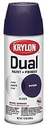 Krylon 8816 \'Dual\' Gloss Purple Paint and Primer - 12 oz. Aerosol