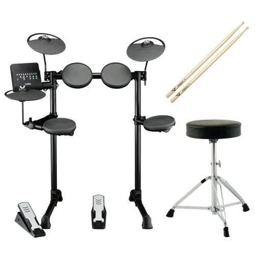 Yamaha Dtx Series Dtx400K 10-Inch Electronic Drum Set Bundle With Double-Braced Drum Throne + Vater Percussion 7A Drumsticks